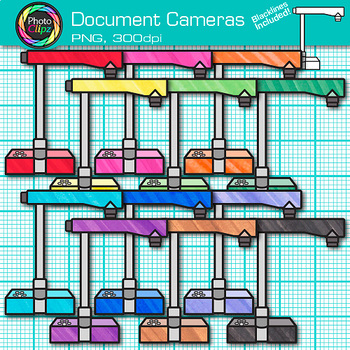 Document Camera Clip Art {Rainbow Visual Presenter Devices for Technology} 1