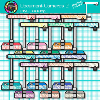 Document Camera Clip Art {Rainbow Visual Presenter Devices for Technology} 2