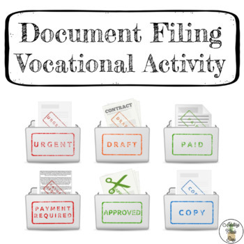 Document Filing Task Box Activity - Life Skills Vocational