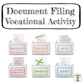 Document Filing Task Box Activity - Life Skills Vocational
