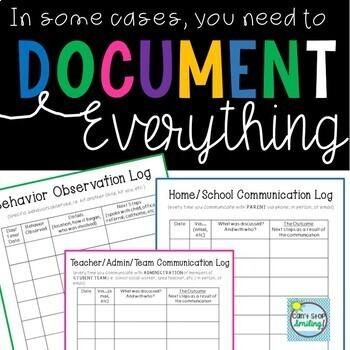Document It Behavior and Communication Logs ~ CYA Binder