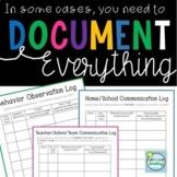 Documentation Behavior and Communication Logs ~ CYA Binder