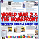 Document Worksheet on the American Homefront During World War II