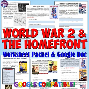 document worksheet on the american homefront during world war ii. Black Bedroom Furniture Sets. Home Design Ideas