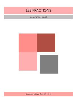 La fraction - Document de travail