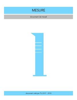 Les unités de mesure - Document de travail