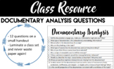Documentary Analysis Questions