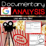 Documentary Analysis Worksheet   Digital and Printable