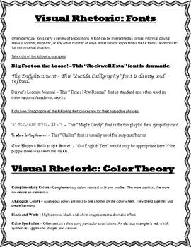 Documentary Analysis Worksheet and Visual Rhetoric Guide by Kimberly ...