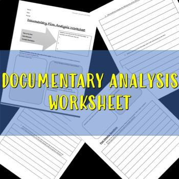 Documentary Analysis worksheet