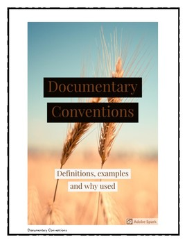 Documentary Conventions Booklet