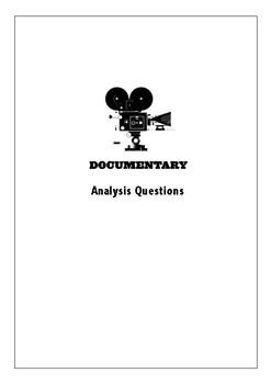 Documentary Film Analysis Student Worksheets