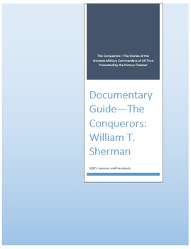 Documentary Guide--The Conquerors, Episode 8:  William Tecumseh Sherman