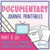 Documentary Journal Printable No Prep