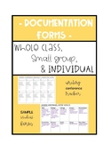 Student and Class Documentation Forms