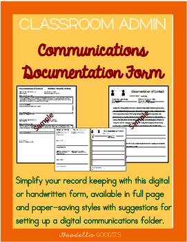 Documentation Forms: Communications