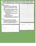 Documentation Forms for Binder for School Social Work
