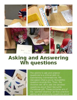 Documentation Poster: Wh questions (editable)
