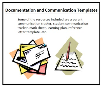Parent and Student Communication Sheets (Editable Letters,