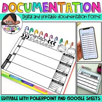 Documentation Station {Editable Documentation Forms}