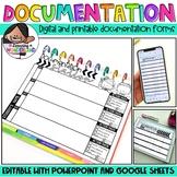 Parent Communication Log | Documentation Forms + Version m