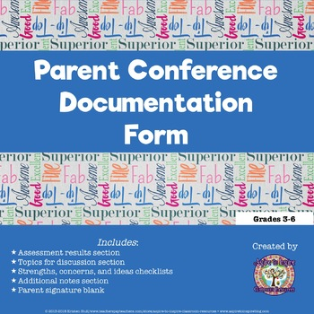 FREEBIE Documentation for Parent Meetings and Conferences