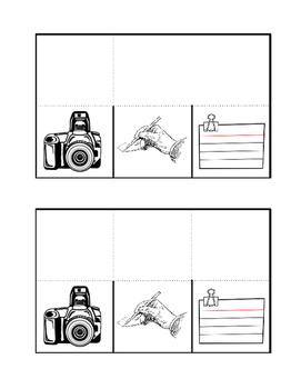 Documenting a Crime Scene foldable