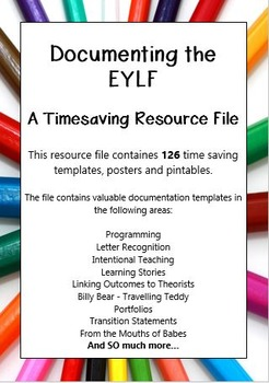 Documenting the EYLF - A Timesaving Resource File