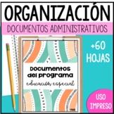 Documentos - Organización carpeta educación especial 2019-2020