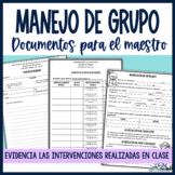 Documentos para el manejo de grupo