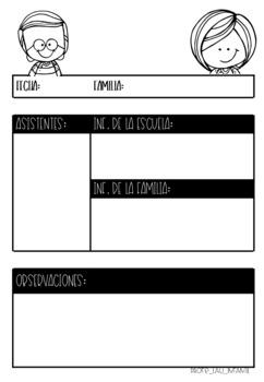 Documentos tutorías individuales con padres