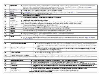 Documents, Doctrines, and Vocabulary Quiz