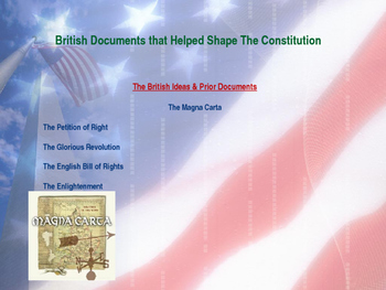 Establishing the US Gov. - Documents & Events That Help Shape the Constitution