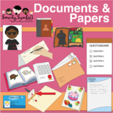 Documents, Papers, and Books Set: 113 PNG Images