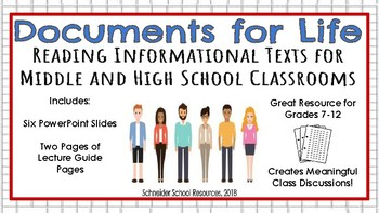 Documents for Life: Reading Informational Texts