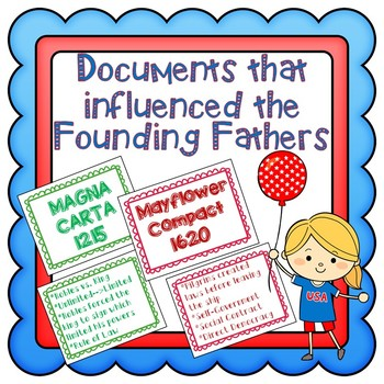 Documents that Influenced the Founding Fathers- Constitution, AOC, DOI