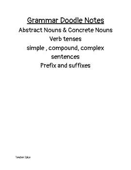Doddle Notes Grammer