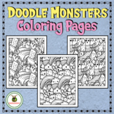 Doddles and Monsters Coloring Pages for Adults and Big Kids