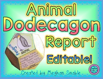 Editable Dodecagon Animal Report