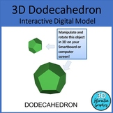 Dodecahedron - 3D Shape for Whiteboards and Smartboards