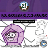Dodecahedron Globe -- Net & Geometric Solids Project