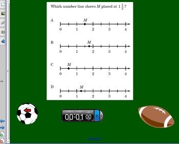 Dodgeball Fractions Review SMARTBOARD