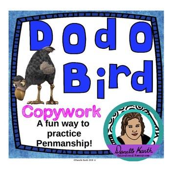 Dodo Bird Copywork -Penmanship Practice for Print and Curs