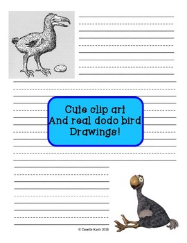 Dodo Bird Notebooking Paper - Blank Pages, Guide Lines, and Lined!