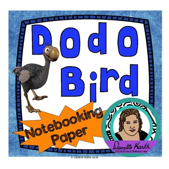 Dodo Bird Notebooking Paper - Blank Pages, Guide Lines, an