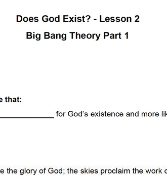 Does God Exist? Lesson 2