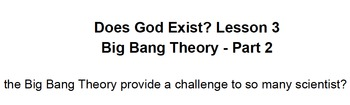 Does God Exist? Lesson 3