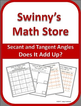 Does It Add Up: Angles formed by Secants and Tangents