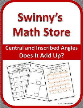 Does It Add Up: Central and Inscribed Angles