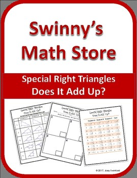 Does It Add Up: Special Right Triangles